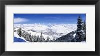 Framed Ski Slopes in Sun Valley, Idaho