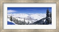 Framed Ski Slopes in Sun Valley, Idaho
