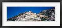 Framed Town on mountains, Positano, Amalfi Coast, Campania, Italy