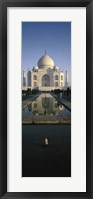 Framed Reflection of a Mausoleum in Water, Taj Mahal, Agra, India