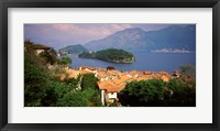 Framed Village at the Waterfront, Sala Comacina, Lake Como, Como, Lombardy, Italy