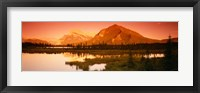 Framed View of the Mt Rundle, Banff National Park, Alberta, Canada