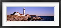Framed Portland Head Lighthouse, Cape Elizabeth, Maine, New England