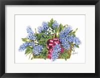 Framed Basket of Blue