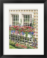 Framed Butchart Gardens Window Box