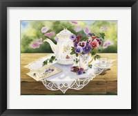 Framed Victorian Tea in the Garden