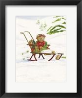 Framed Bears Sleigh Ride