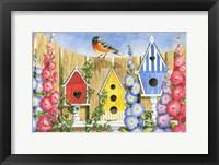 Framed Bird House Row