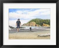 Framed Footsteps in the Sand
