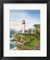 Framed Lighthouse Sunset