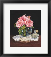 Framed Roses, Perfume and Lace