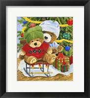 Framed Teddy Bear Christmas