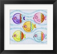 Framed Five Fish