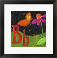 Framed B is for Butterfly