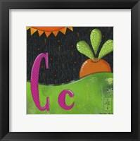 Framed C for Carrots