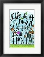 Framed Flowery Life