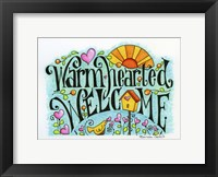 Framed Warm Hearted Welcome