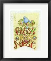Framed Bless This Nest