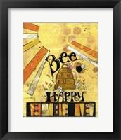 Framed Bee Hive Happ