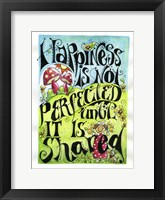 Framed Share Happiness