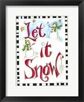 Framed Let it Snow