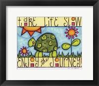 Framed Color Turtle