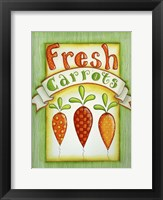 Framed Fresh Carrots