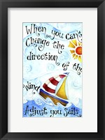 Framed Adjust Your Sail(Words)