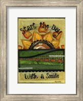 Framed Start the Day with a Smile