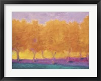 Framed Yellow Trees