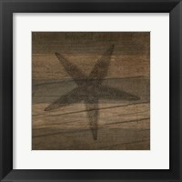 Framed Rustic Starfish