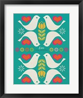 Framed Groovy Doves
