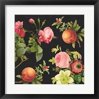 Framed Pomegranates and Roses II