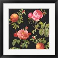 Framed Pomegranates and Roses I