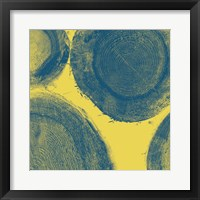 Framed Blue on Yellow