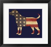 Framed American Dog