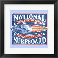 Framed National Surfboard