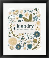 Framed Laundry Cycle