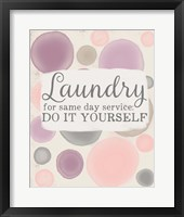 Framed Do It Yourself Laundry