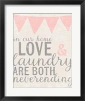 Framed Neverending Laundry
