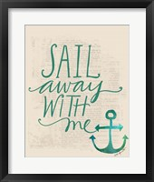 Framed Sail Away with Me