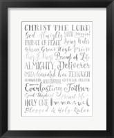 Framed Silver Names of God