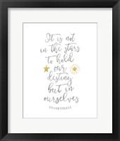 Framed Shakespeare Destiny Quote