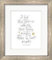 Framed Van Gogh Love People Quote