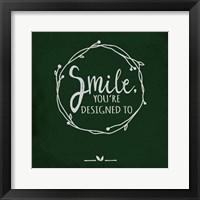 Framed Smile - Black