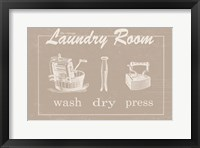 Framed Vintage Laundry