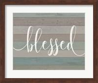 Framed Rustic Blessed Script
