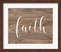 Framed Rustic Faith Script