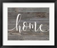 Framed Rustic Home Script