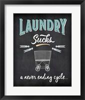 Framed Laundry Sucks